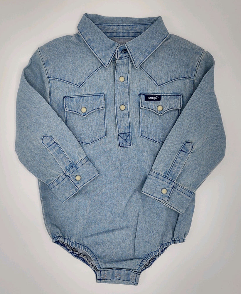 Load image into Gallery viewer, Wranglers Light Denim Onesie