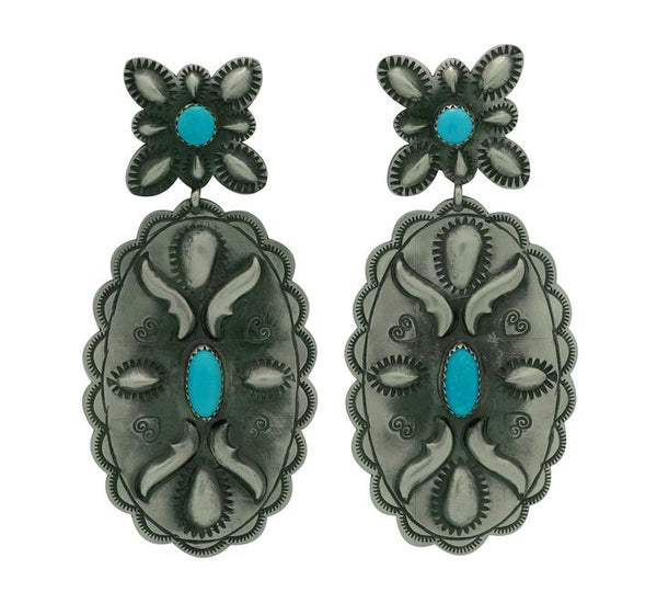 Old Style Turquoise Navajo Earrings