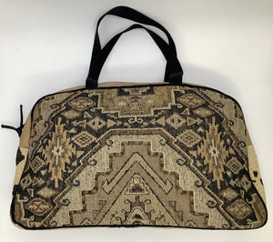 Load image into Gallery viewer, Chocolate Aztec Overnight Bag