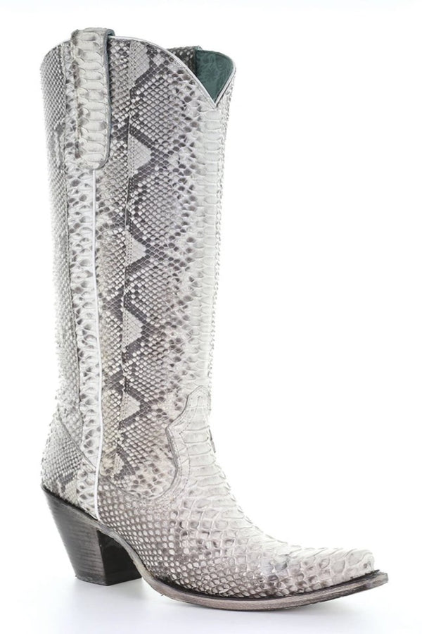 Corral Natural Python Tall Top Boots