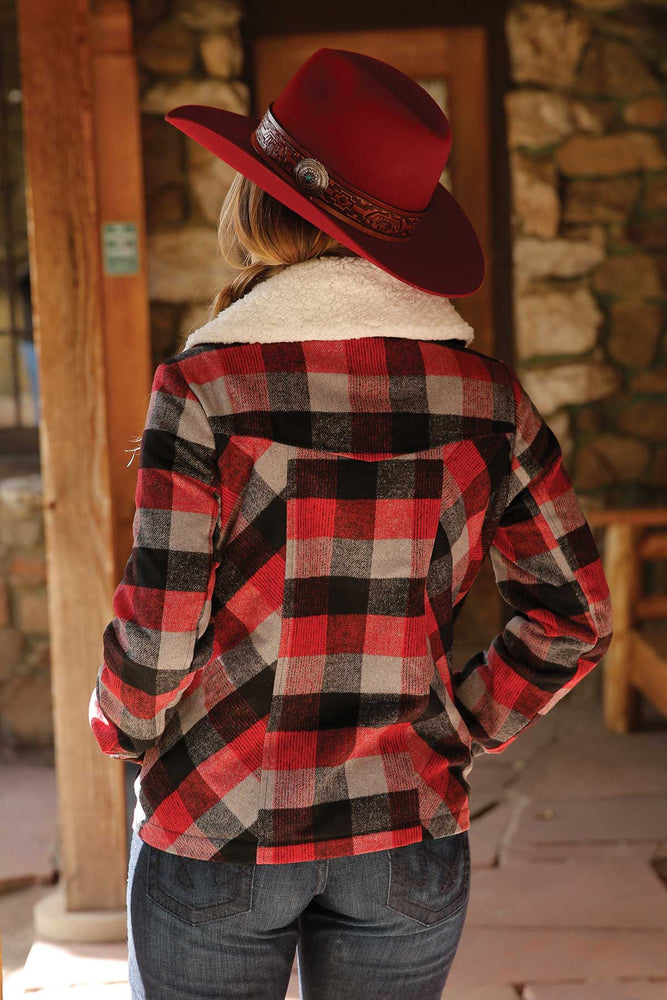 Load image into Gallery viewer, Cruel Girl Red Flannel Jacket