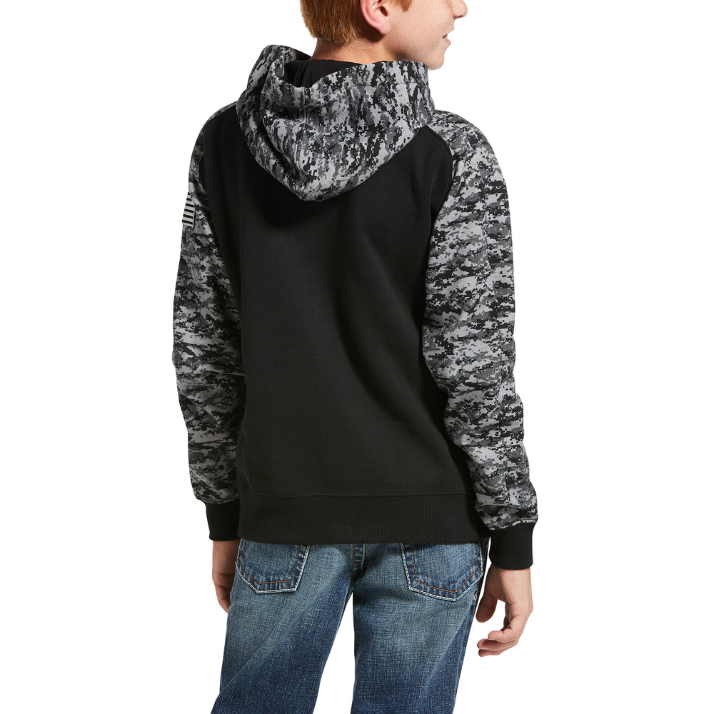 Load image into Gallery viewer, Ariat Boy's Black Camo Hoodie