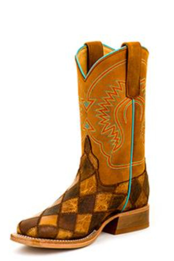 HorsePower Kid's Crazy Train Patchwork Boot
