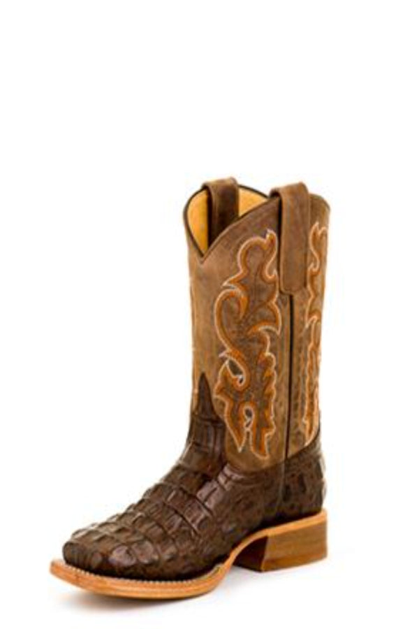 HorsePower Kid's Chocolate Nile Croc Boots