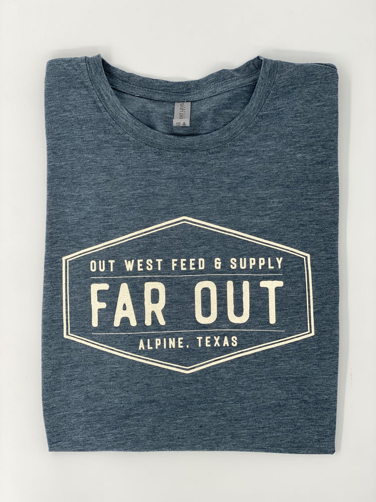 FAR OUT TSHIRT - Charcoal Blue