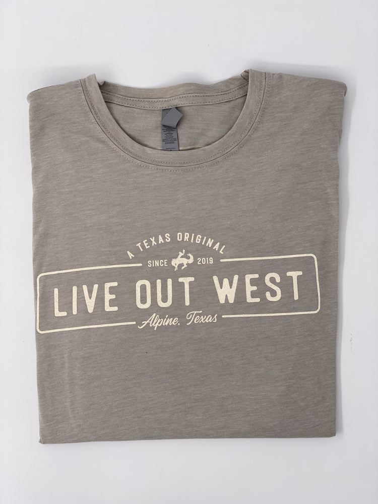 LIVE OUT WEST TSHIRT - Grey