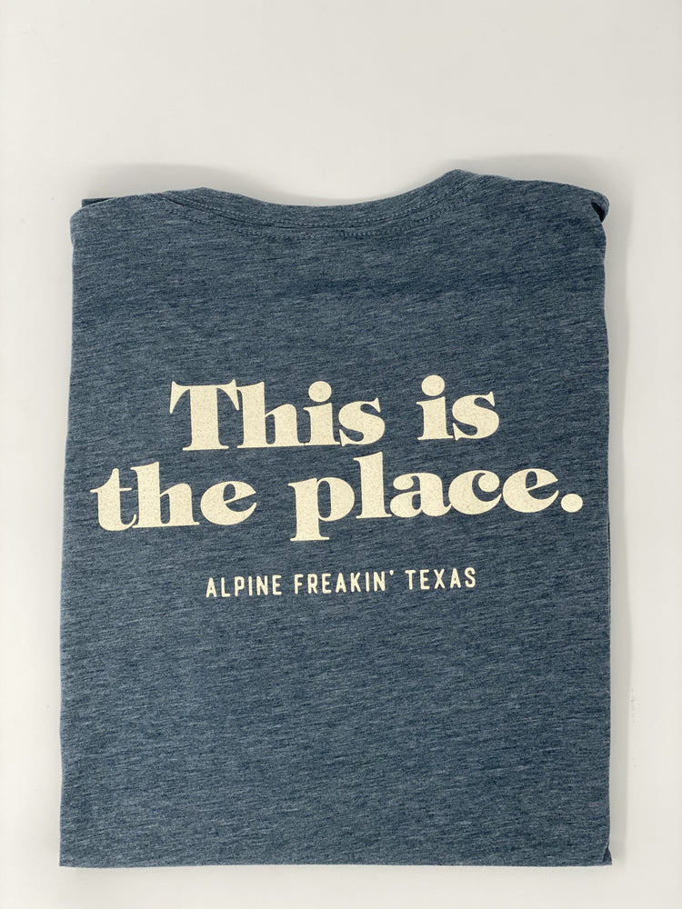 THIS IS THE PLACE TSHIRT - Charcoal Blue