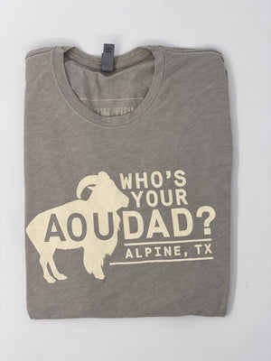 WHO'S YOUR AOUDAD TSHIRT - Grey