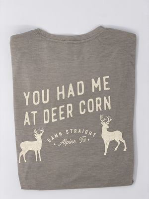 Load image into Gallery viewer, YOU HAD ME AT DEER CORN TSHIRT - Grey