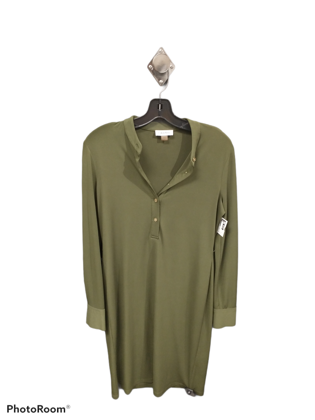 Primary Photo - brand: calvin klein , style: dress short long sleeve , color: olive , size: 4 , sku: 267-26790-7739