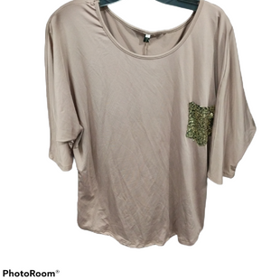 Primary Photo - BRAND:    CLOTHES MENTOR STYLE: TOP SHORT SLEEVE COLOR: BROWN SIZE: L SKU: 267-26793-562