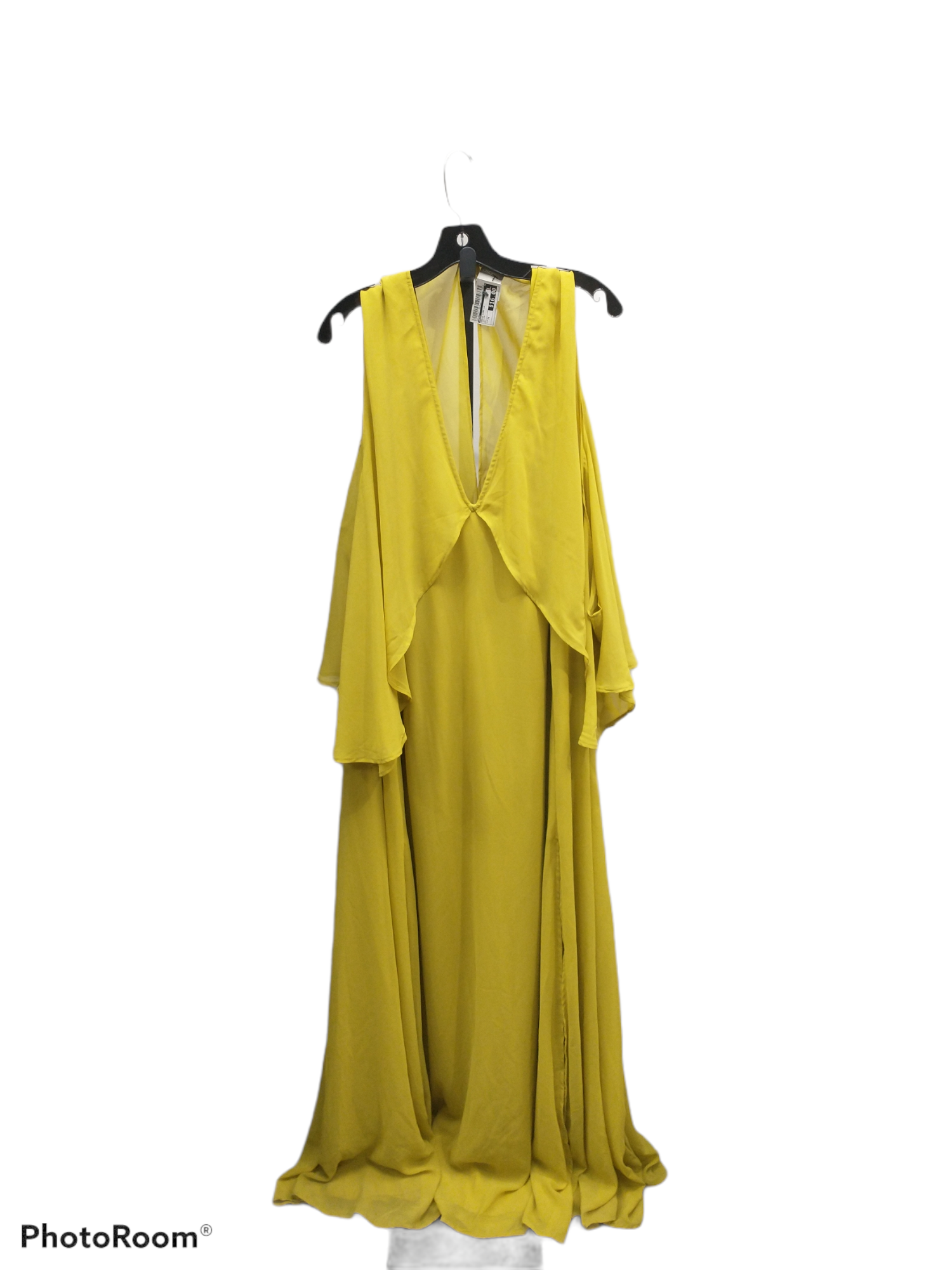 Primary Photo - brand: asos , style: dress long long sleeve , color: yellow , size: 3x , sku: 267-26790-10676