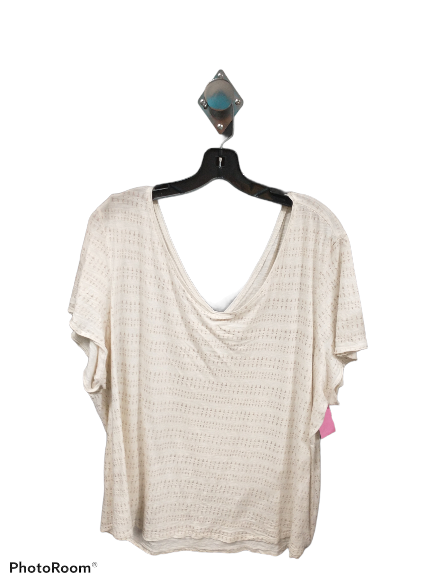 Primary Photo - brand: maurices , style: top short sleeve , color: cream , size: 3x , sku: 267-26748-54840