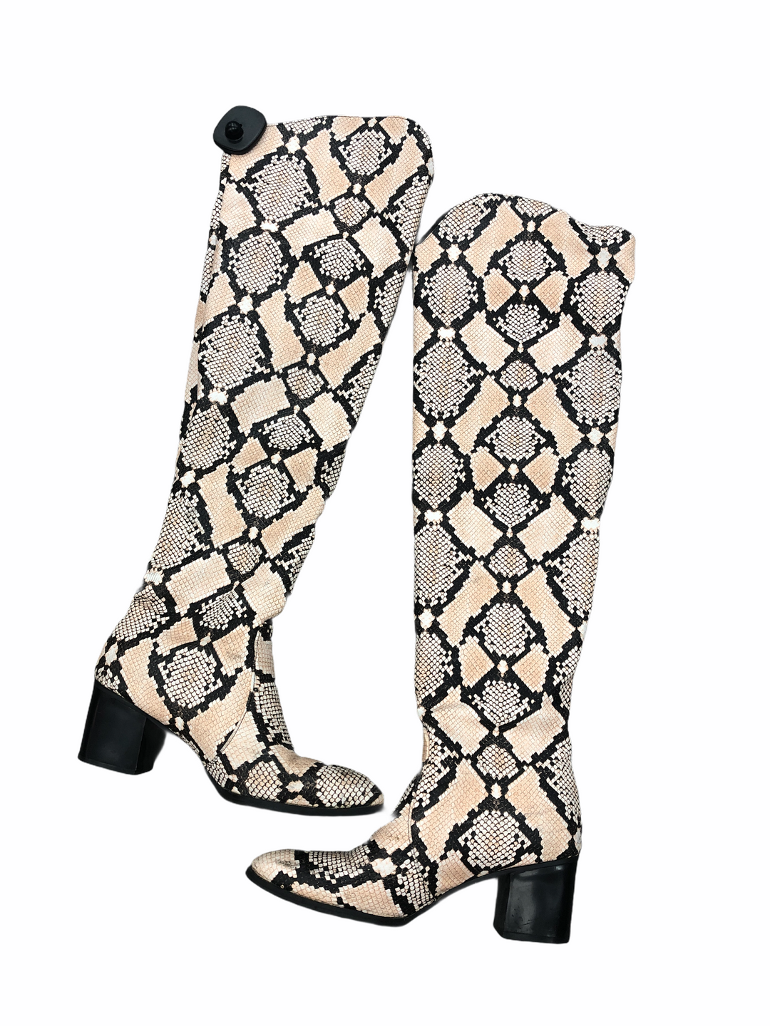 Primary Photo - brand:    clothes mentor , style: boots knee , color: snakeskin print , size: 7.5 , sku: 267-26790-13360
