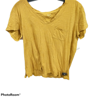 Primary Photo - BRAND: MADEWELL STYLE: TOP SHORT SLEEVE COLOR: MUSTARD SIZE: L SKU: 267-26790-6231