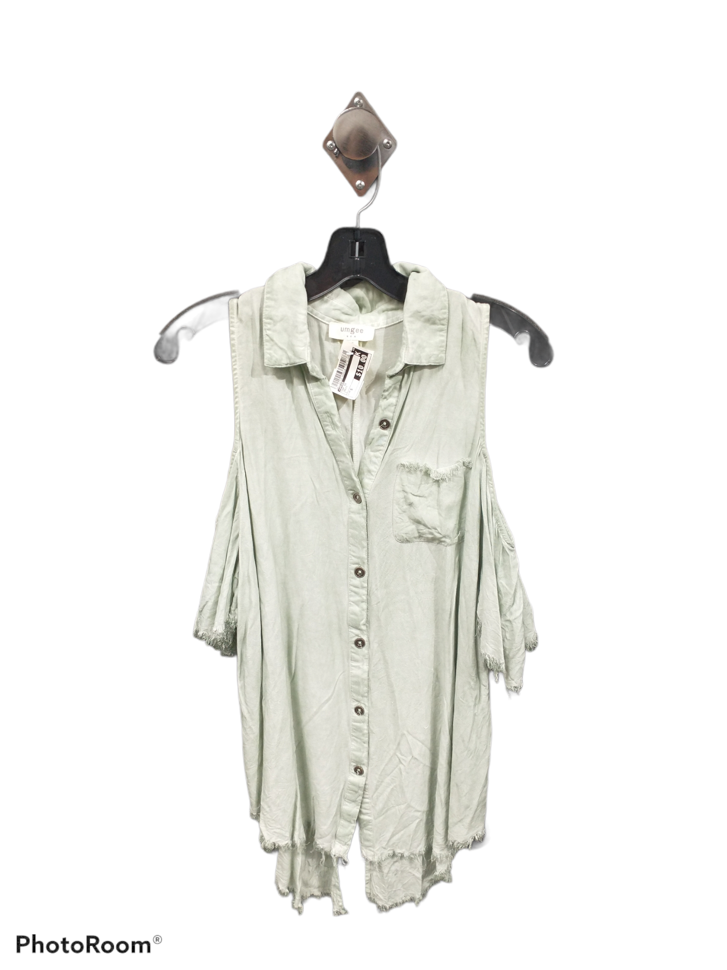 Primary Photo - brand: umgee , style: top short sleeve , color: green , size: s , sku: 267-26793-4604