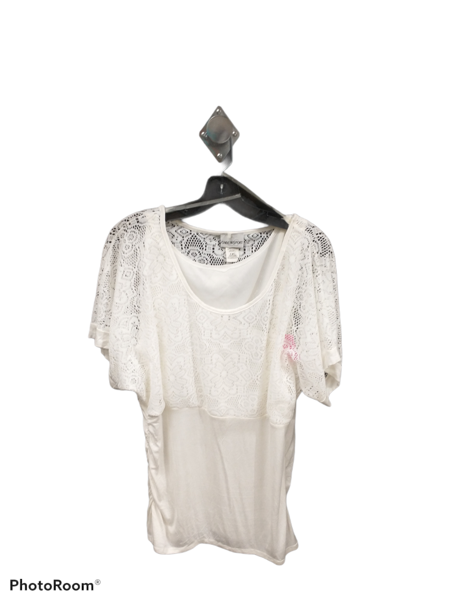 Primary Photo - brand: caren sport , style: top short sleeve , color: white , size: 3x , sku: 267-26790-2207