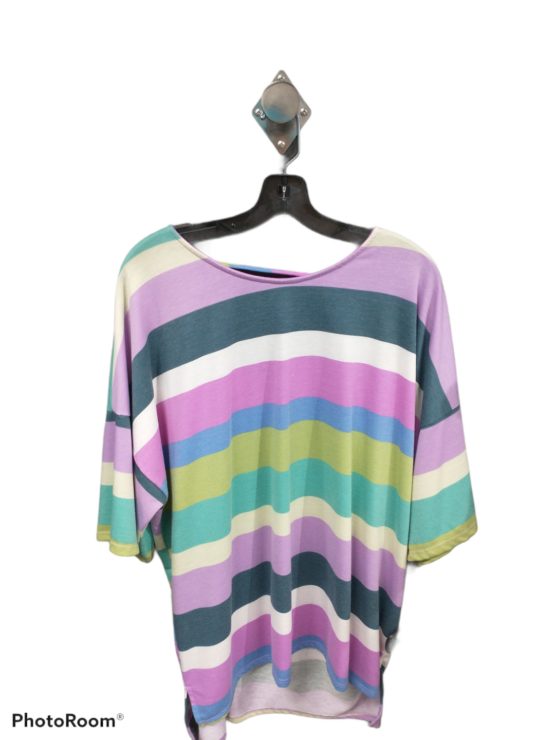 Primary Photo - brand: acting pro , style: top short sleeve , color: striped , size: 3x , sku: 267-26724-69238