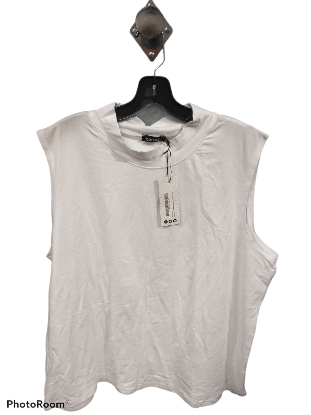 Primary Photo - brand: boohoo boutique , style: top sleeveless , color: white , size: 2x , sku: 267-26793-8453