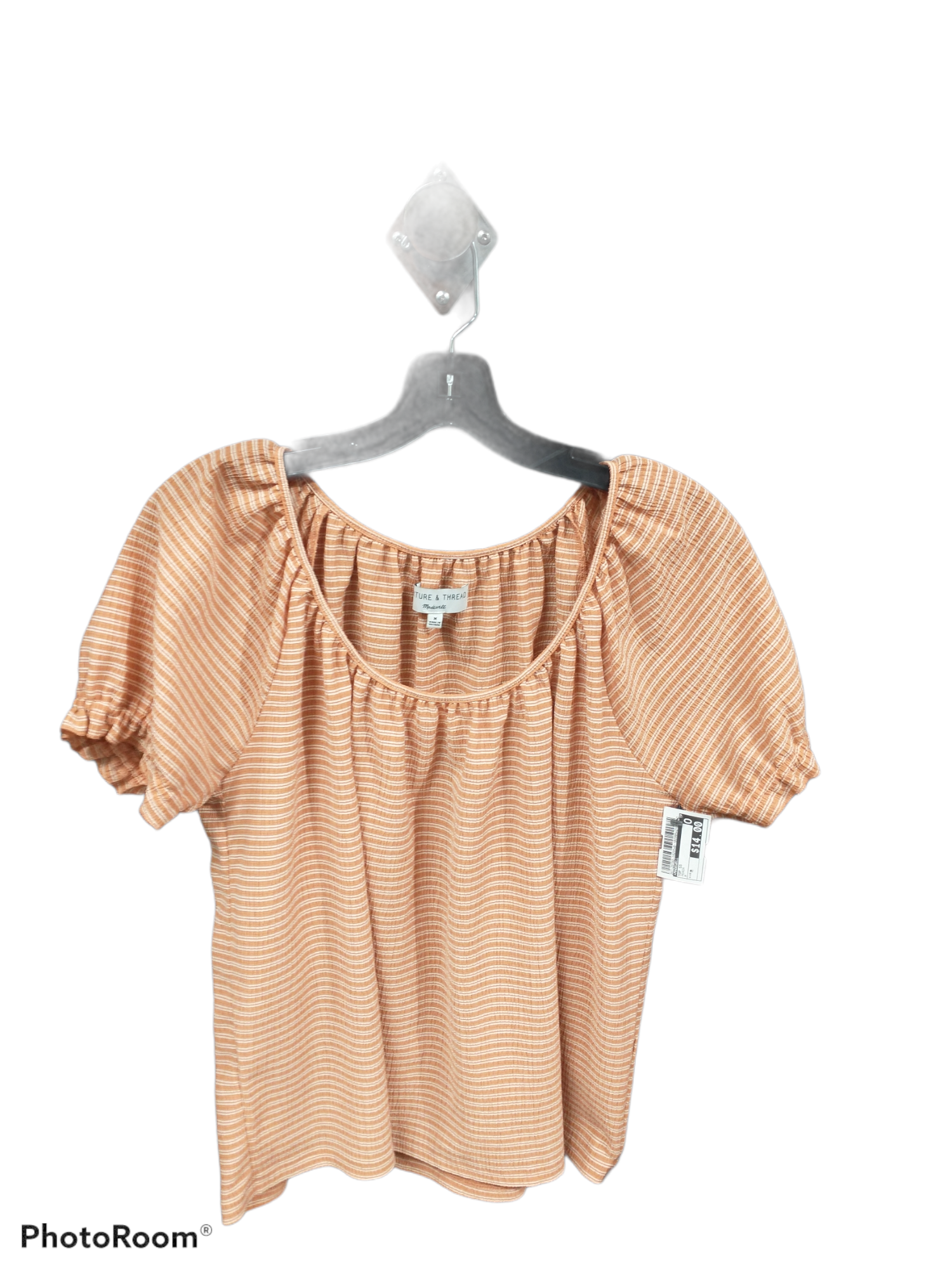 Primary Photo - brand: madewell , style: top short sleeve , color: peach , size: m , sku: 267-26790-14255