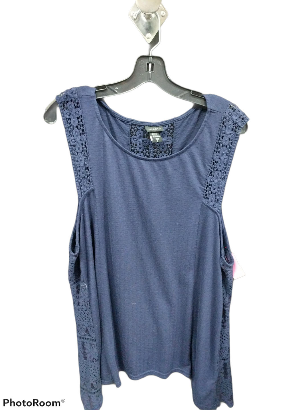 Primary Photo - brand: torrid , style: top sleeveless , color: navy , size: 2 , sku: 267-26790-385