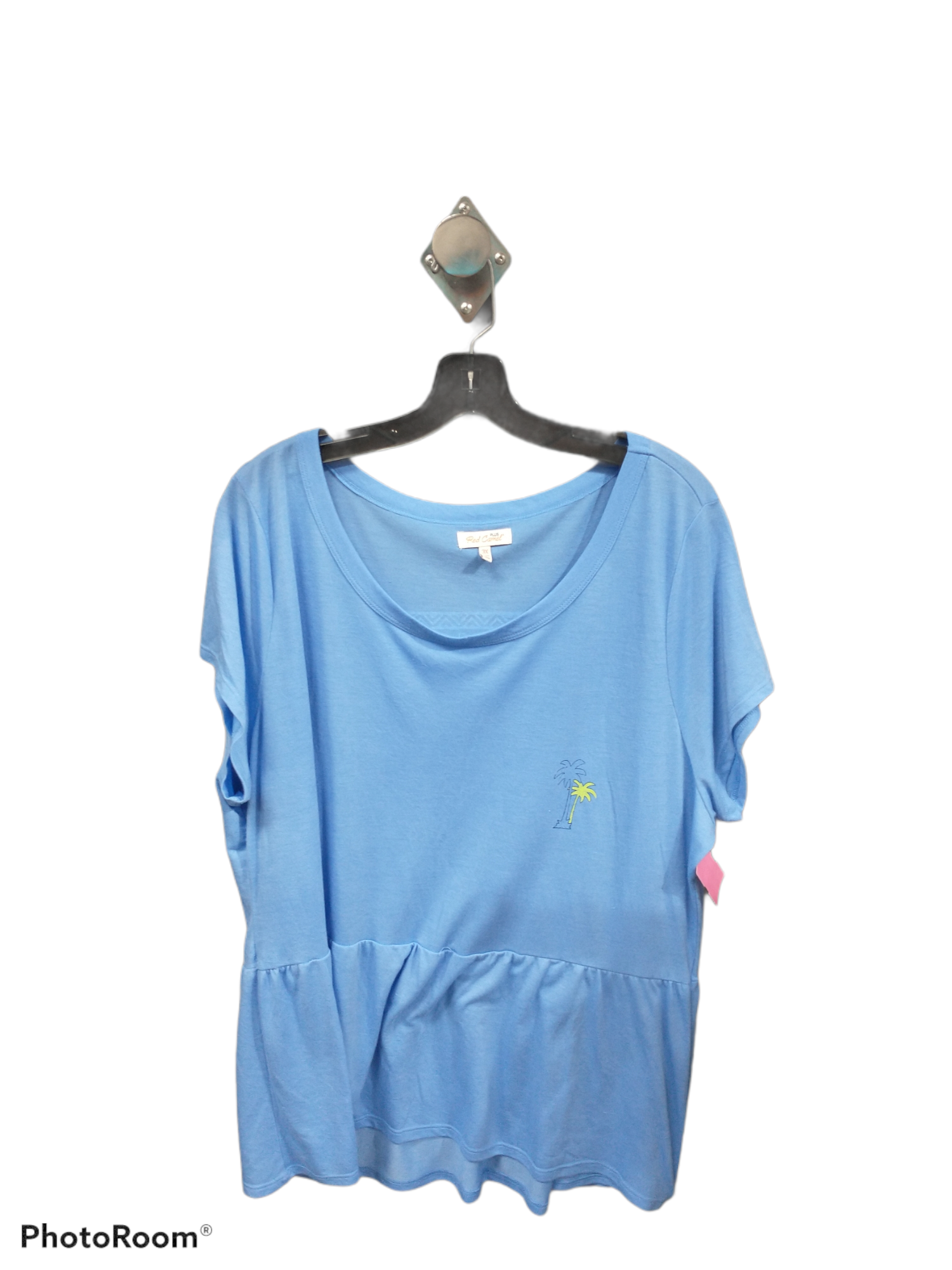 Primary Photo - brand: red camel , style: top short sleeve , color: blue , size: 3x , sku: 267-26790-661