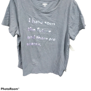 Primary Photo - BRAND: OLD NAVY STYLE: TOP SHORT SLEEVE COLOR: GREY SIZE: XL SKU: 267-26752-4890