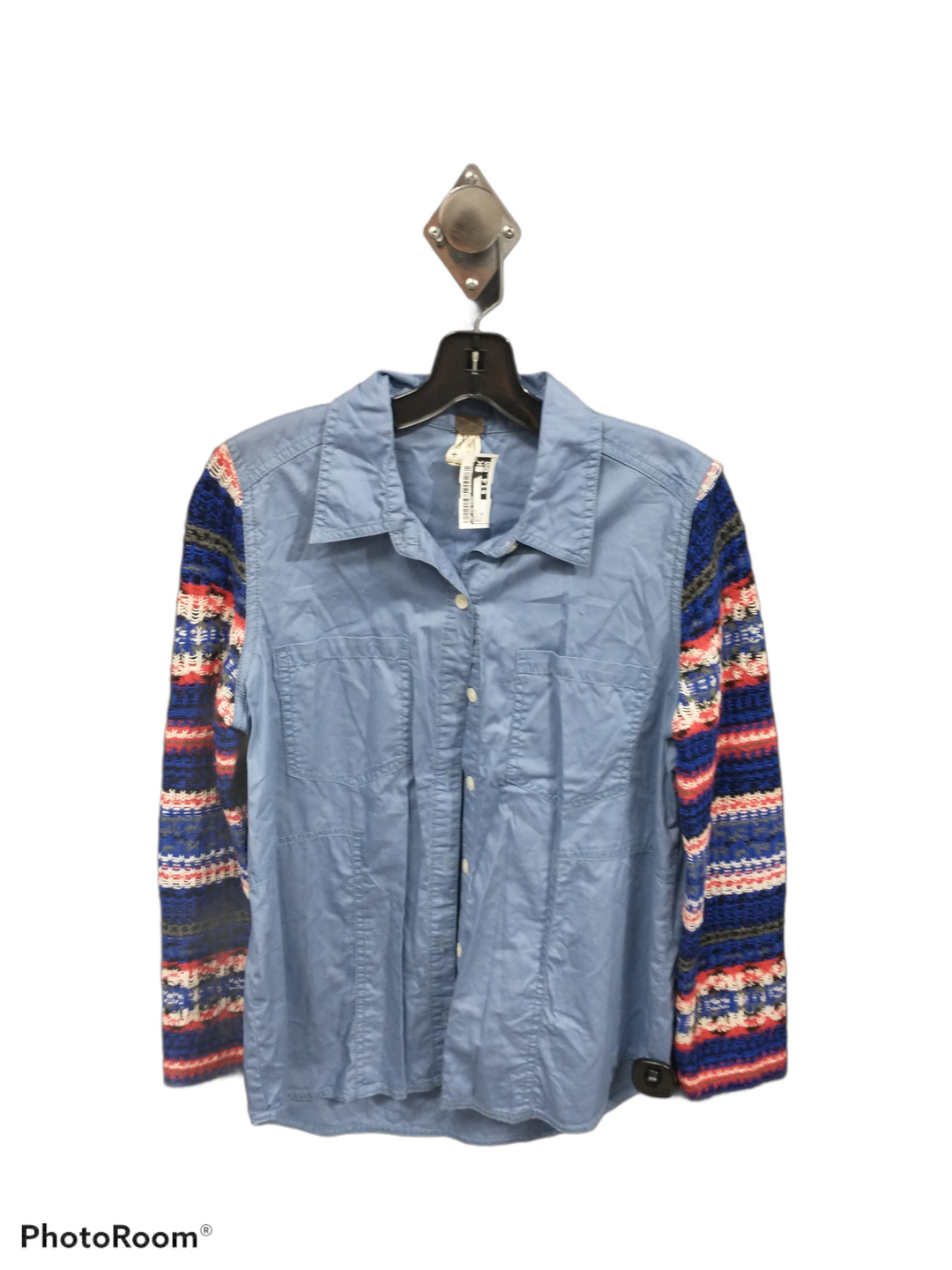 Primary Photo - brand: we the free , style: top long sleeve , color: blue , size: m , sku: 267-26793-4759