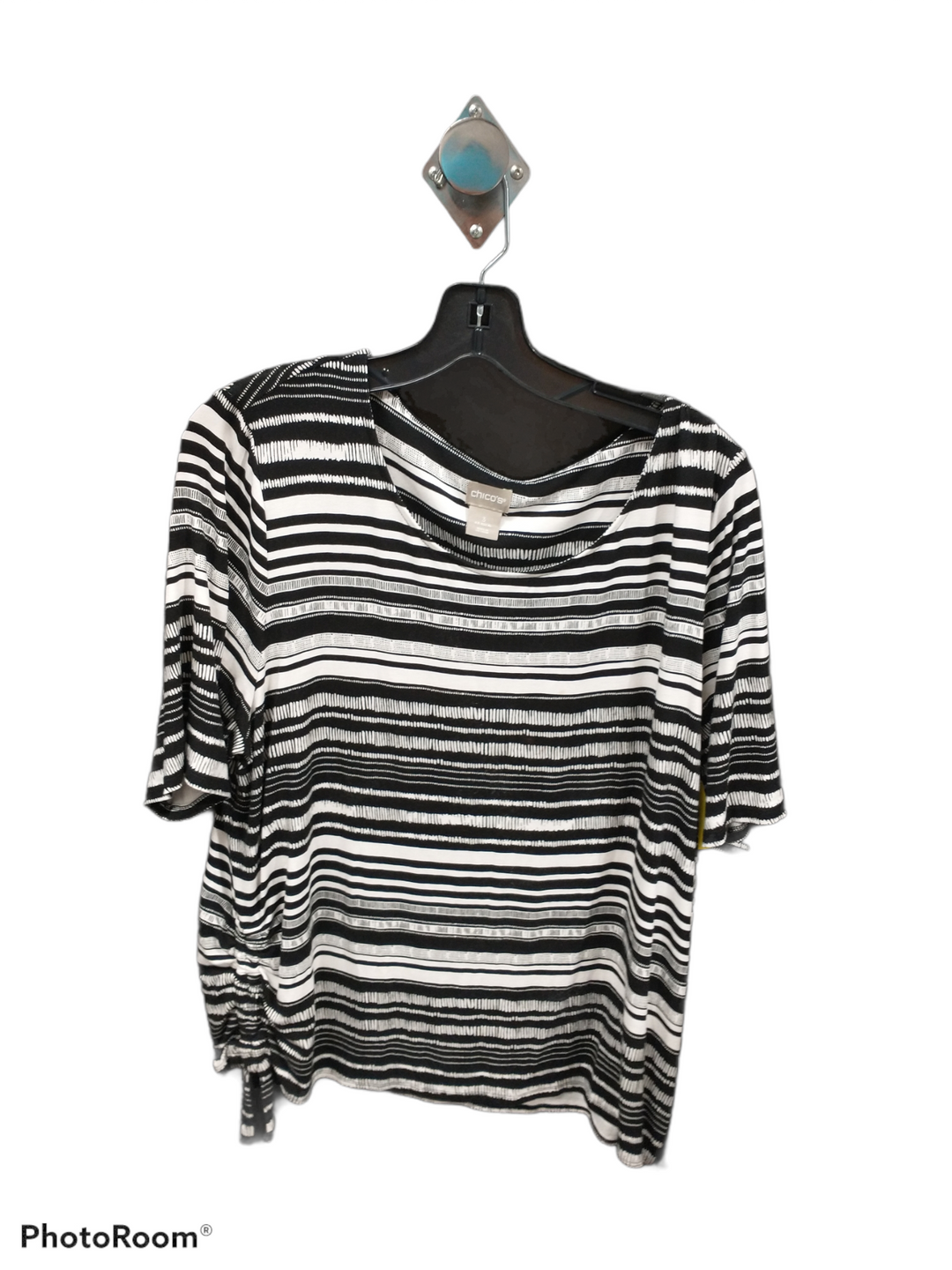 Primary Photo - brand: chicos , style: top short sleeve , color: black white , size: 3 , sku: 267-26793-2196