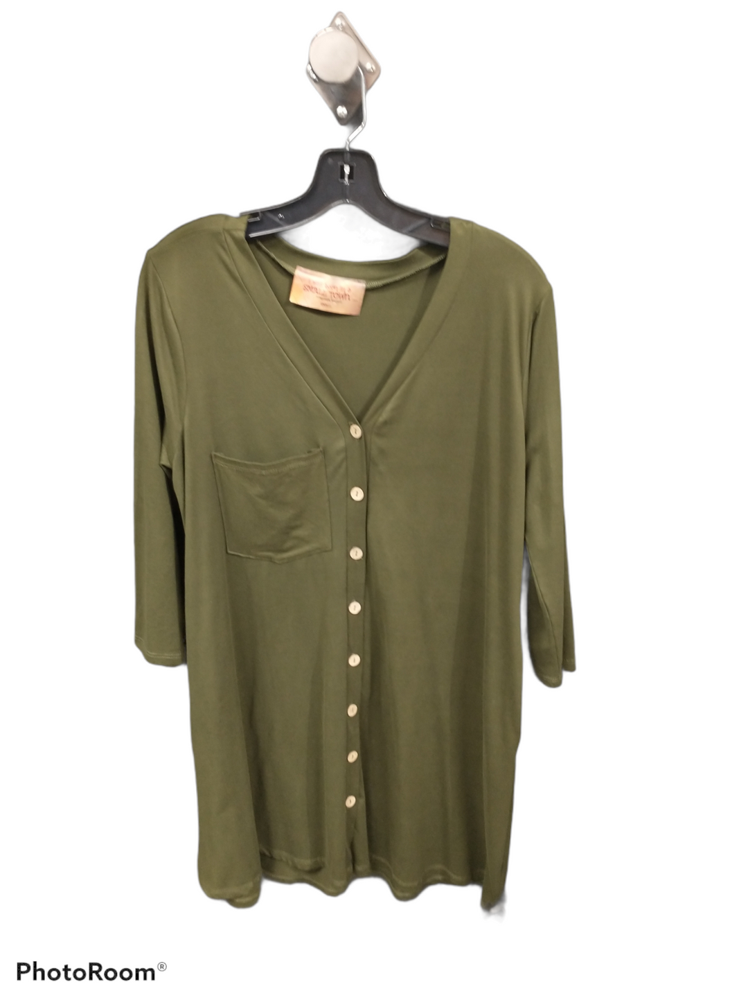 Primary Photo - brand:    clothes mentor , style: dress short long sleeve , color: green , size: s , sku: 267-26752-6313