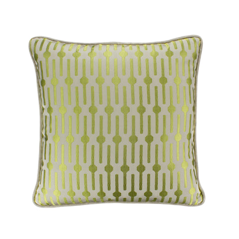 Jacquard Pillow Cover, Lollipop Lime (18x18)