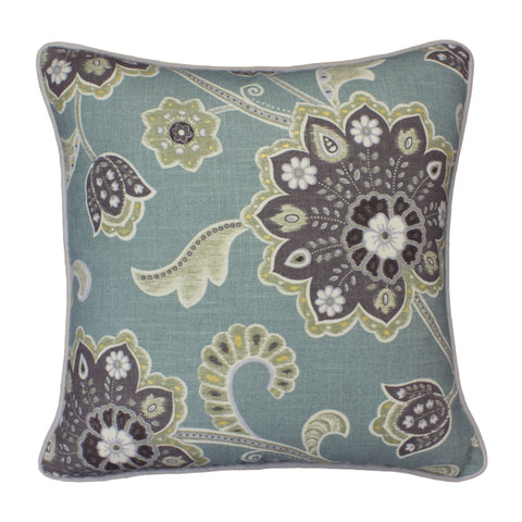 Linen Pillow Cover, Ankara Pond (18x18)