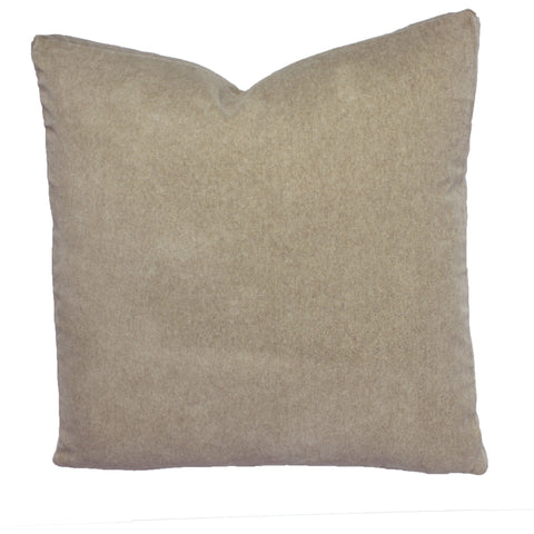 Cotton Velvet Pillow, Brushed Oatmeal (18x18x2)