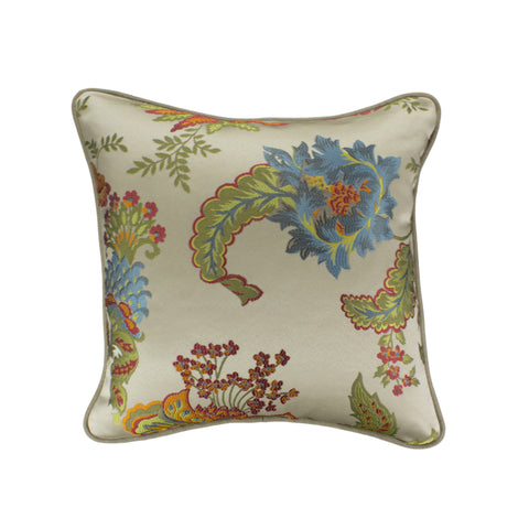 Jacquard Pillow Cover, Centella Chartreuse (18x18)