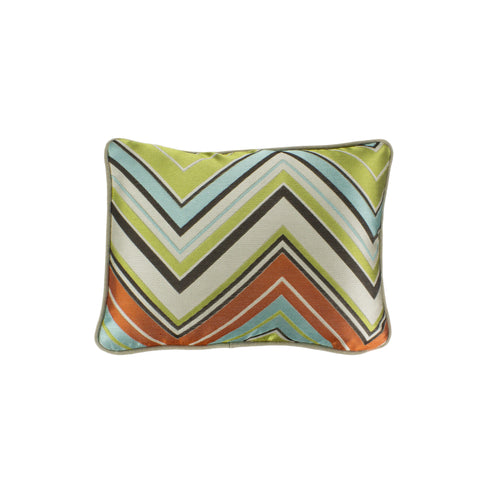 Jacquard Pillow Cover, Chevron Surf Kiwi (12x16)