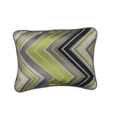 Jacquard Pillow Cover, Surf Chevron Silver (12x16)