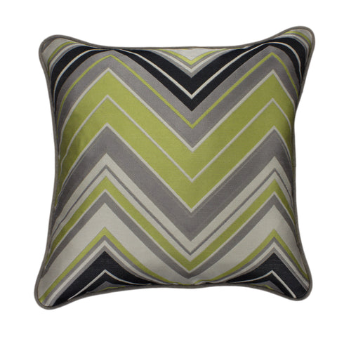 Jacquard Pillow Cover, Surf Chevron Silver (18x18)