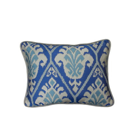 Jacquard Pillow Cover, Treasures Azul (12x16)