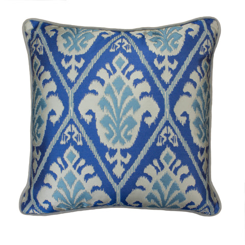 Jacquard Pillow Cover, Treasures Azul (18x18)