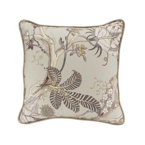 Cotton Pillow Cover, Darjeeling Bachette  (18x18)