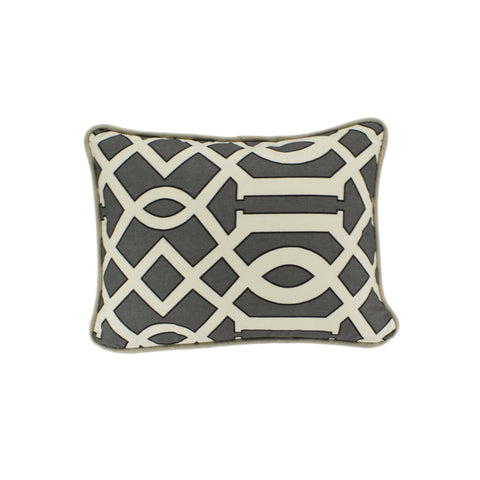 Cotton Pillow Cover, Renaldi Kemble Slate (12x16)