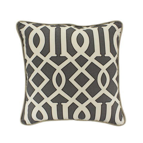 Cotton Pillow Cover, Renaldi Kemble Slate (18x18)