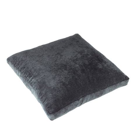 Cotton Velvet Pillow Cover, Blue/Grey (18x18x2)