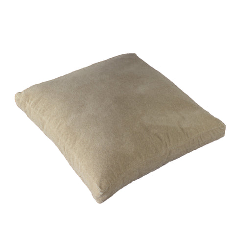 Cotton Velvet Pillow Cover, Brushed Oatmeal (18x18x2)