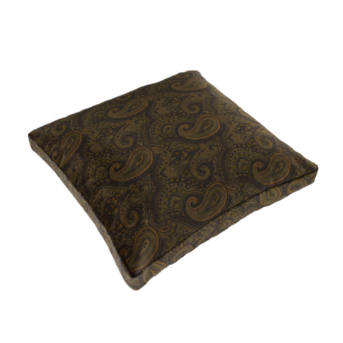 Cotton Velvet Pillow Cover, Chocolate Paisley (18x18x2)