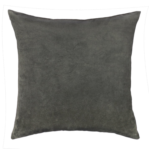 Cotton Velvet Pillow Cover, Dark Khaki (18x18)