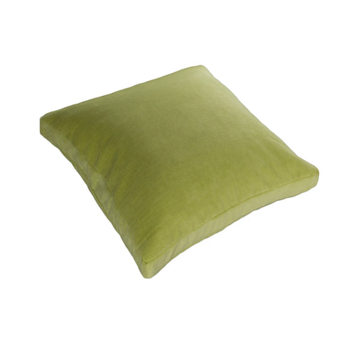 Cotton Velvet Pillow Cover, Light Green (18x18x2)
