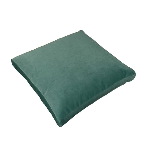 Cotton Velvet Pillow Cover, Light Turquoise (18x18x2)