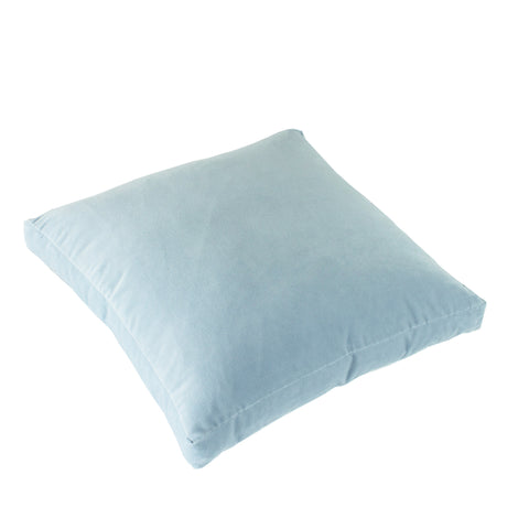 Cotton Velvet Pillow Cover, Powder Blue (18x18x2)