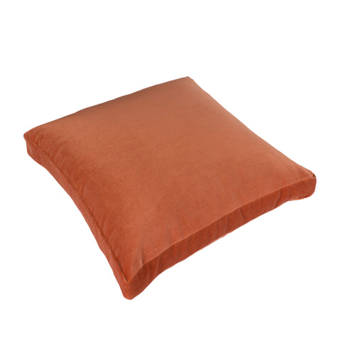 Cotton Velvet Pillow Cover, Saffron (18x18x2)